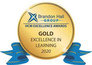 Brandon Hall 2020 gold excellence in learning awards